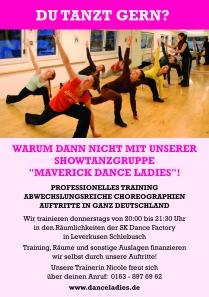 Für Can Can Tanz Show werden weitere Tänzerinnen gesucht
